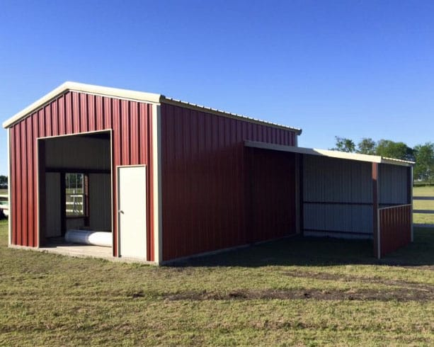 Red Metal Building | NTP, Construction, Inc.